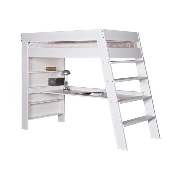 Poschodová posteľ s pracovným stolom Julien White