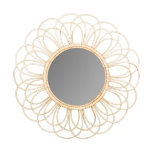 Nástenné zrkadlo z ratanu Sunny Natasha, ø44 cm