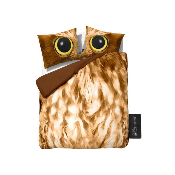 Obliečky Owl Look Taupe, 200x200 cm