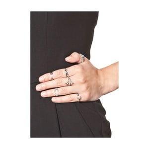 Sada 6 dámskych prsteňov v striebornej farbe NOMA Dolores