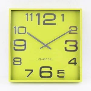 Nástenné hodiny Plastic Green
