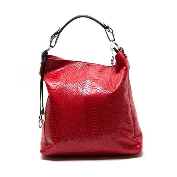 Kožená kabelka Clair, červená