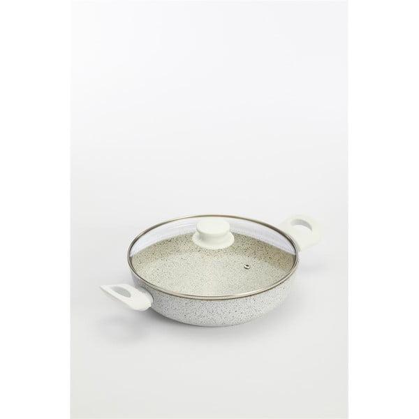 Panvica Stonewhite s pokrievkou a bielymi úchytmi, 24 cm/2,36 l