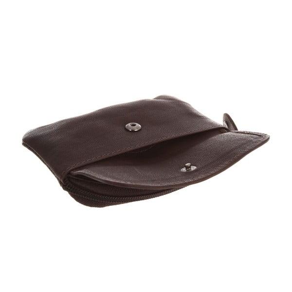Kožená peňaženka na mince Keeper Brown
