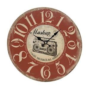 Nástenné hodiny Red Vintage, 34 cm