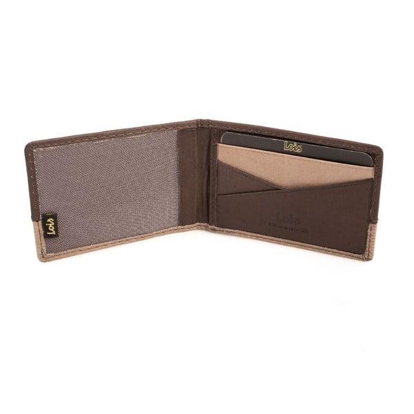 Kožená peňaženka Lois Brown Block, 10x7 cm