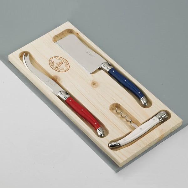 3-dielna sada príboru na syry v drevenom balení Jean Dubost Paris