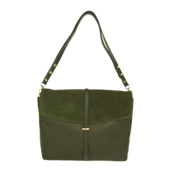 Kožená kabelka Ella, lesná zeleň