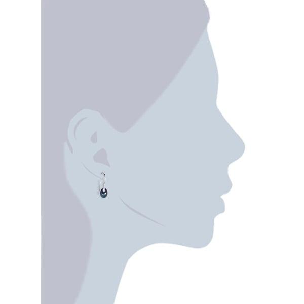 Modré perlové náušnice ve tvaru slzy Chakra Pearls