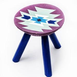 Ručne maľovaná stolička Biertan, 28 cm