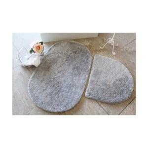 Sada 2 sivých kúpeľňových predložiek Confetti Bathmats Colors of Oval Grey