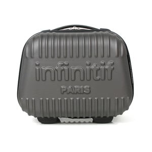 Sivý kozmetický kuforík s potlačou INFINITIF, 12l