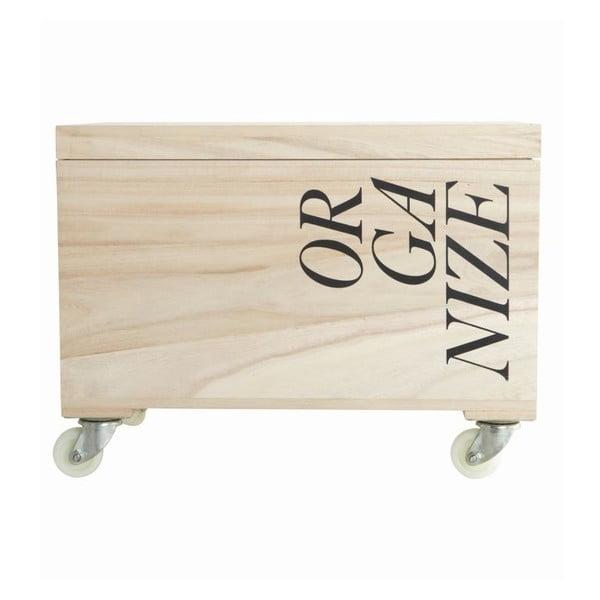 Úložný box na kolieskach Organize, 44x31x23 cm