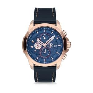 Pánske hodinky s koženým remienkom Santa Barbara Polo & Racquet Club Climb