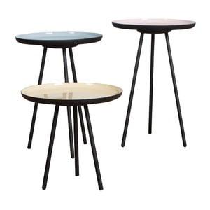 Set 3 stolíkov Enamel