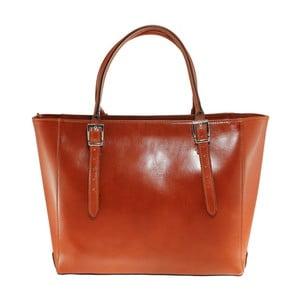 Karamelová kožená kabelka Tami