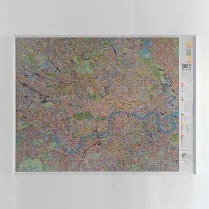 Magnetická mapa Londýna Street map, 130×100cm