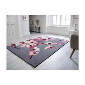 Koberec Flair Rugs Blossom Charcoal Pink, 160 × 230 cm