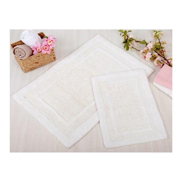 Sada 2 krémových kúpeľňových rohožiek Irya Home Superior, 60x100 cm a 40x60 cm