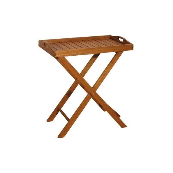 Záhradný odkladací stolík z eukalyptového dreva ADDU Dallas