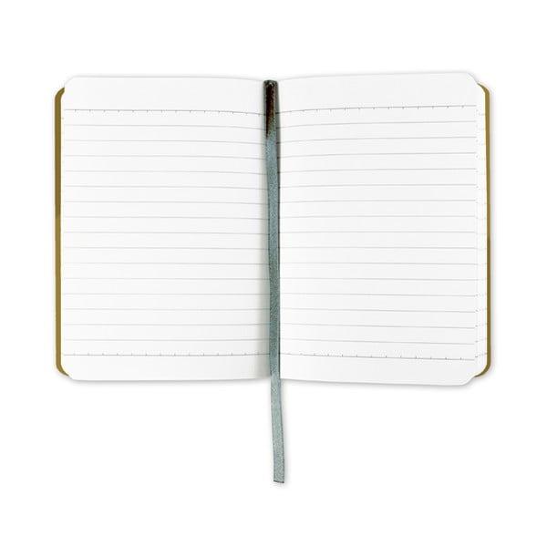 Linajkový zápisník A6 s monogramom Portico Designs D, 160stránok