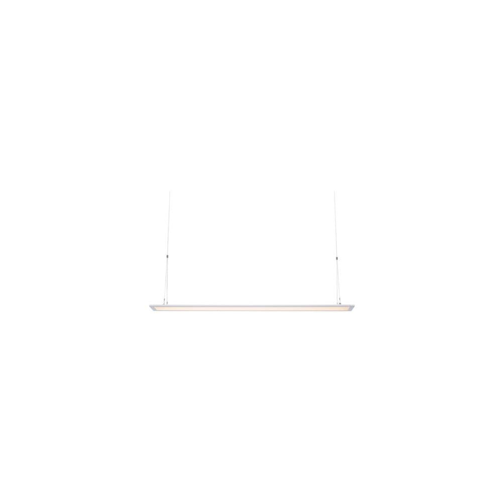 Biele závesné svietidlo Markslöjd Plan, dĺžka 120 cm