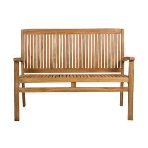 Záhradná lavica s opierkou z teakového dreva Santiago Pons