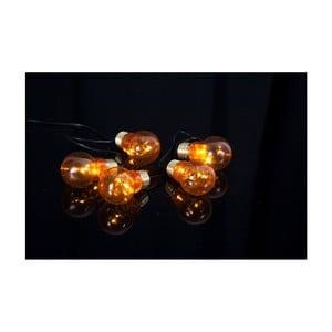 Oranžová svetelná LED reťaz Best Season Glow Battery, 5svetielok