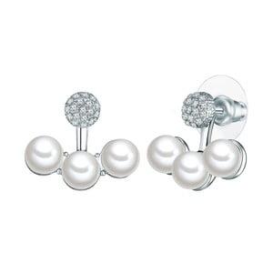 Náušnice s bielymi perlami Perldesse Joe, ⌀ 6 mm