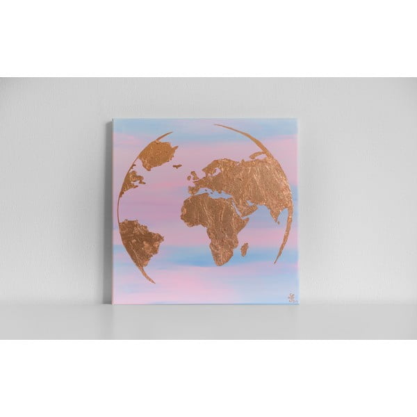 Obraz Rose Gold Earth, 50x50 cm