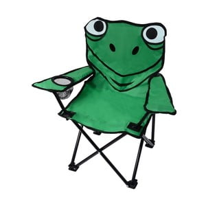 Zelená skladacia kempingová stolička Cattara Frog