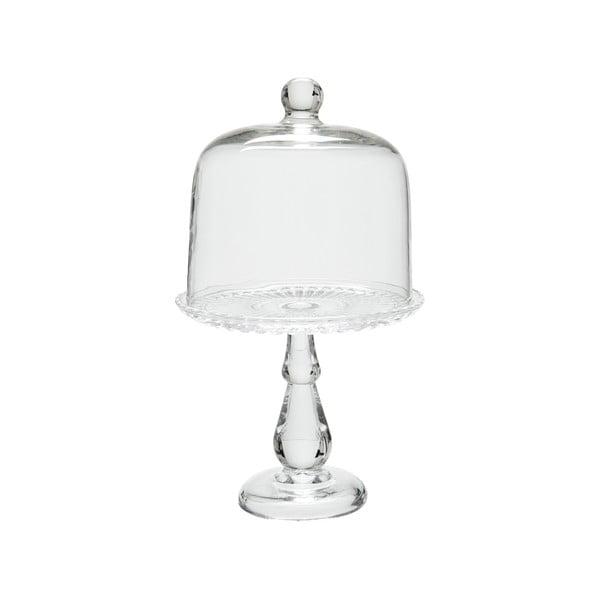Sklenený podnos s poklopom Glass Bell