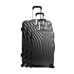Sada 3 čiernych cestovných kufrov na kolieskach Hero Lagos
