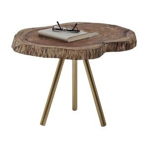 Odkladací stolík s doskou z mangového dreva Kare Design Macchia