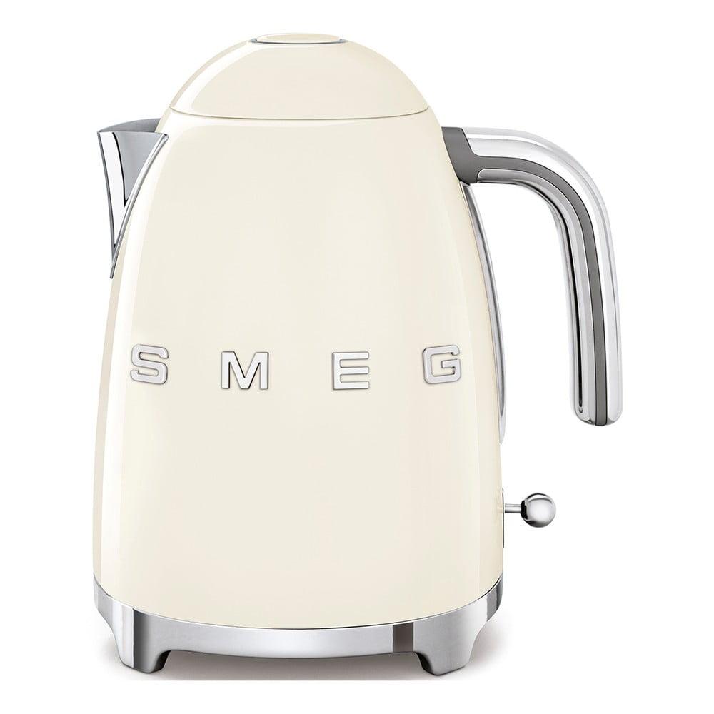 Krémovo-biela varná kanvica SMEG