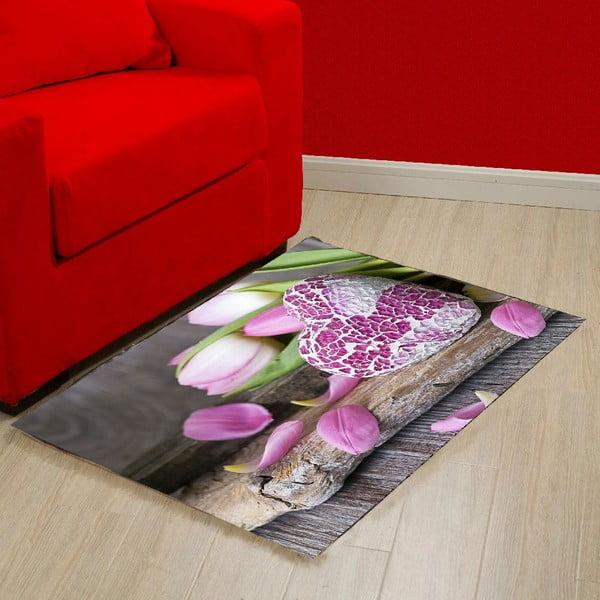 Vinylový koberec Purple Love, 52×75cm