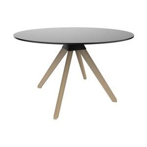 Černý jedálenský stôl s podnožím z bukového dreva Magis Cuckoo, ø 75 cm