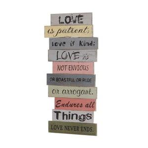 Nástenná dekorácia Mendler Shabby Love Is Patient