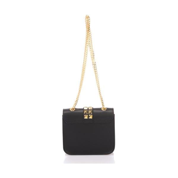Čierna kožená kabelka Giulia Massari Skata