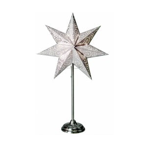 Biela svietiaca hviezda so stojanom Best Season Antique White, 55 cm