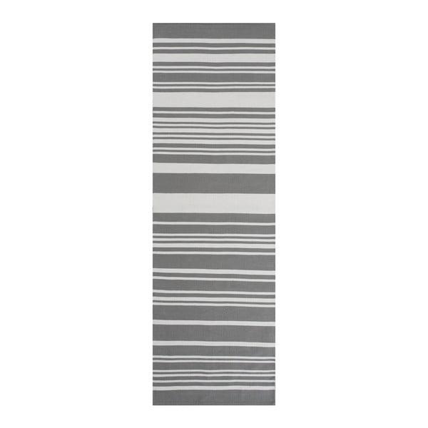 Sivý bavlnený koberec Linie Design Glorious, 80x150cm