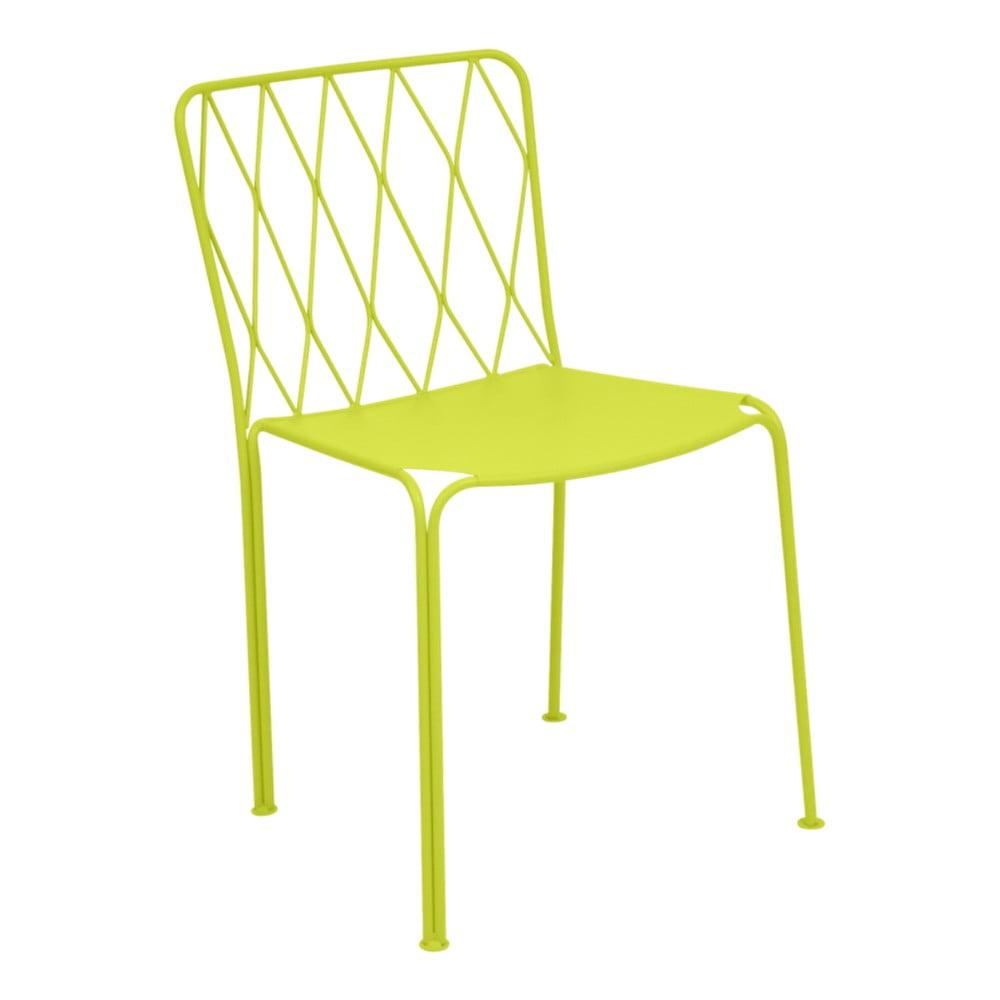 Zelená záhradná stolička Fermob Kintbury