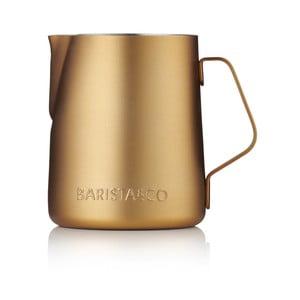 Kanvička na mlieko v medenej farbe Barista & Co, 350 ml
