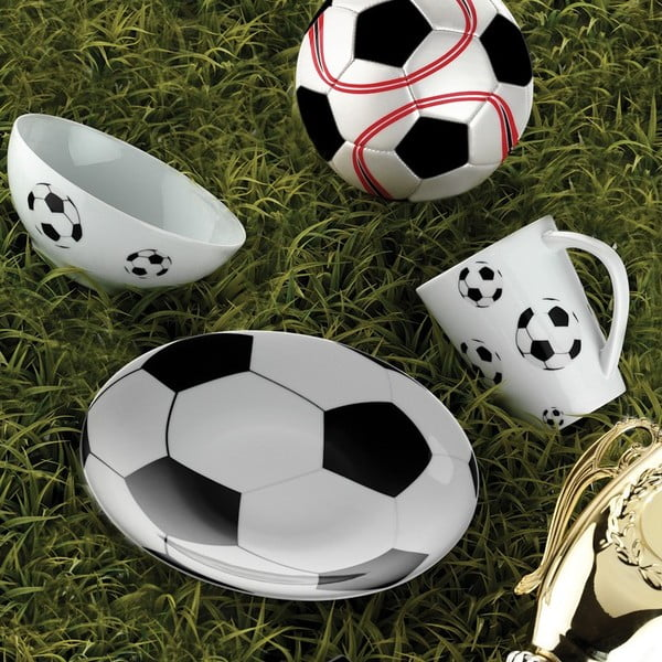 Sada šálka, miska, tanierik Futbal