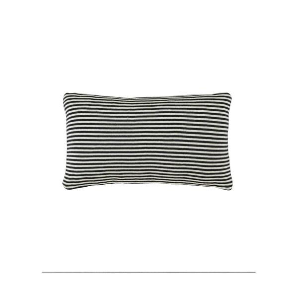 Vankúš Marc O'Polo Arvid, 30x50 cm, čierny