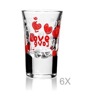 Sada 6 pohárov Mezzo Rojo Taruna, 34 ml
