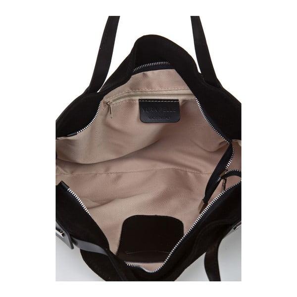 Čierna kožená kabelka Giorgio Costa Matt