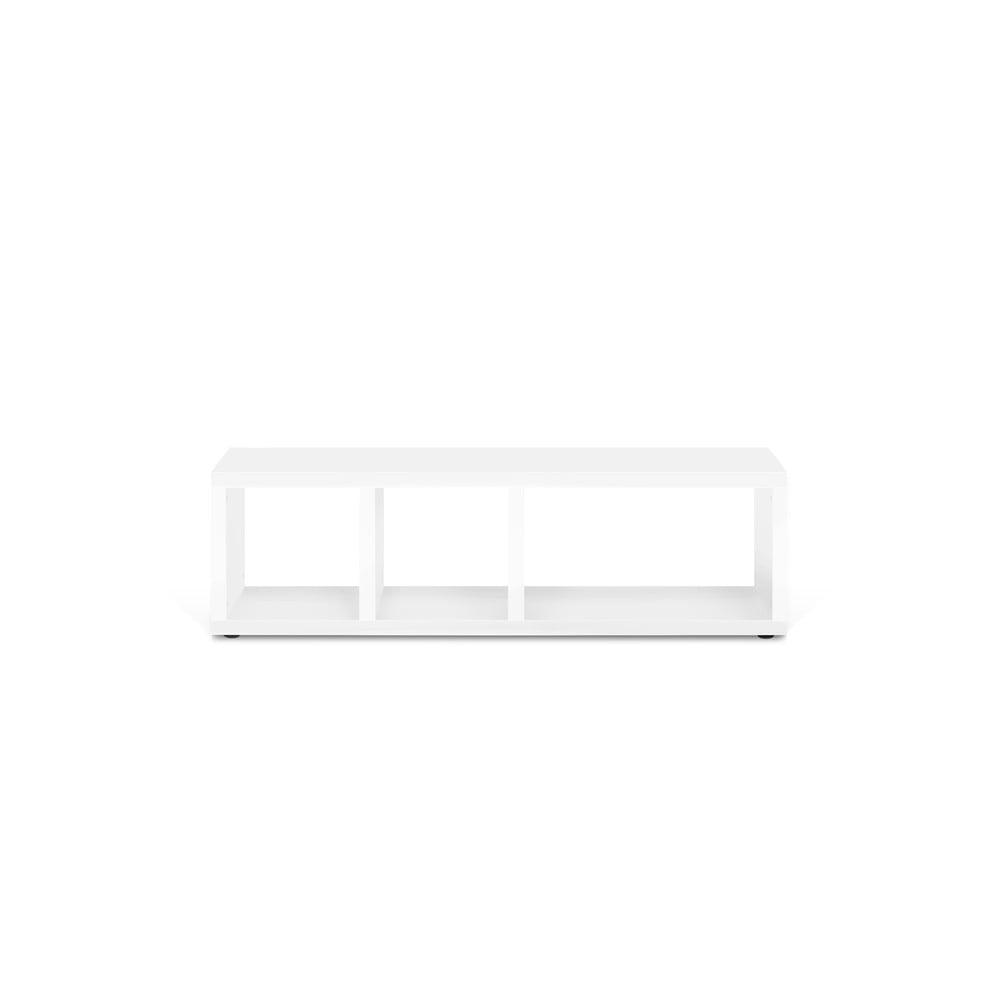 Biely televízny stolík TemaHome Berlin, 150 × 45 cm