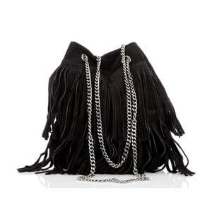 Čierna kožená kabelka Glorious Black Naima