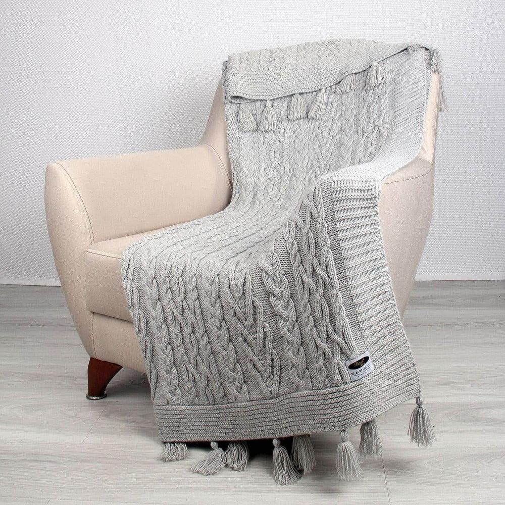 Sivá deka Tutu, 170 × 130 cm